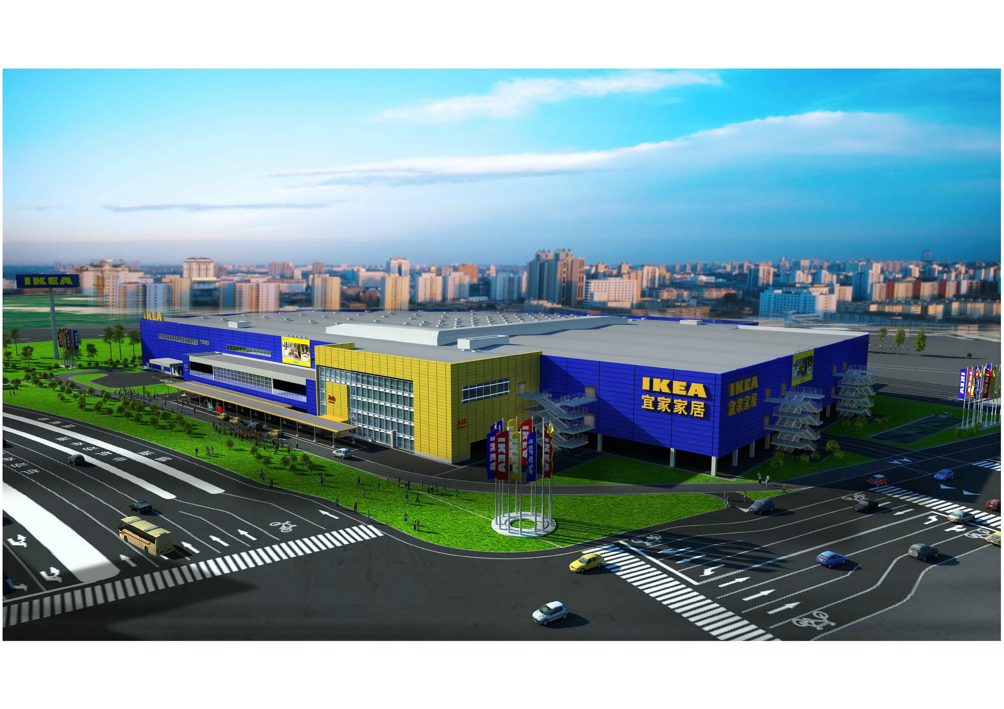 杭州宜家家居商场项目_主营业务_工程设计_仓储物流